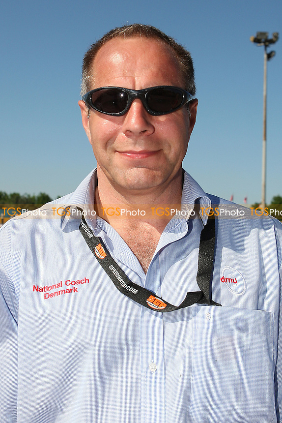Team Denmark manager Anders Secher - FIM Speedway World Under-21 Team Cup Semi Final at Arena Essex Raceway, Purfleet - 27/05/12 - MANDATORY CREDIT: Gavin Ellis/TGSPHOTO - Self billing applies where appropriate - 0845 094 6026 - contact@tgsphoto.co.uk - NO UNPAID USE.