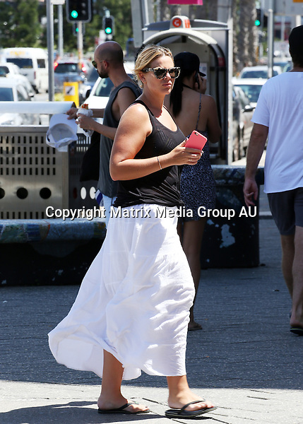 31 JANUARY SYDNEY AUSTRALIA<br /> <br /> EXCLUSIVE PICTURES<br /> <br /> Fiona Falkiner pictured out and about in Bondi.<br /> <br /> *No internet without clearance*.<br /> <br /> MUST CALL PRIOR TO USE <br /> <br /> +61 2 9211-1088. <br /> <br /> Matrix Media Group.Note: All editorial images subject to the following: For editorial use only. Additional clearance required for commercial, wireless, internet or promotional use.Images may not be altered or modified. Matrix Media Group makes no representations or warranties regarding names, trademarks or logos appearing in the images.