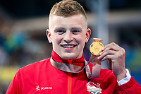 Picture by Alex Whitehead/SWpix.com - 07/04/2018 - Commonwealth Games - Swimming - Optus Aquatics Centre, Gold Coast, Australia - Adam Peaty of England wins Gold in the Men's 100m Breaststroke final.