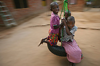 Children play at the Tiyamike Mulungu Center orphanage in Bangula,Malawi.