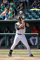 Jacksonville Suns infielder Viosergy Rosa (44) in action during a game against the Pensacola Blue Wahoos at Bragan Field on the Baseball Grounds of Jacksonville on May 11, 2015 in Jacksonville, Florida. Jacksonville defeated Pensacola 5-4. (Robert Gurganus/Four Seam Images)