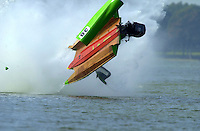 Frame 11: Jeff Shepherd blows over his Hoffman SST-120 boat during a qualifying run..PROP-Cypress Gardens Shootout, Winter Haven, Florida, USA 22 October,2000 copyright©F.Peirce Williams 2000..F.Peirce Williams .photography.P.O.Box 455  Eaton,OH 45320 USA.p: 317.358.7326  e: fpwp@mac.com