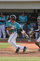 Rico Noel #1 of the Coastal Carolina University Chanticleers hitting in a game against the University of Michigan Wolverines at the Carvelle Resort Classic Tournament held at Watson Stadium at Vrooman Field in Conway,, SC on March 13, 2010. Photo by Robert Gurganus/Four Seam Images