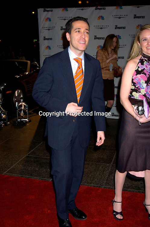 "Sam Solovey and fiancee Lori ..at ""The Apprentice"" finale Party on April 15, 2004 at Trump Tower. Photo by Robin Platzer, Twin Images"