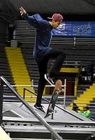 BOGOTA - COLOMBIA - 12 - 08 - 2017: Fernan Origel, Skater de Mexico, durante competencia en el Primer Campeonato Panamericano de Skateboarding, que se realiza en el Palacio de los Deportes en la Ciudad de Bogota. / Fernan Origel, Skater from Mexico, during a competitions in the First Pan American Championship of Skateboarding, that takes place in the Palace of Sports in the City of Bogota. Photo: VizzorImage / Luis Ramirez / Staff.