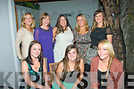 7476-7480.---------.Party Girls.-----------.Lucie Hanranhan, Monavalley,Tralee(seated centre)celebrated her 28th birthday with some lovely friends at Bella Bia restaurant,Ivy Terrace,Tralee last Friday night,also seated is Sarah Keane(Lt)and Grace Bulman(Rt).back row,L-R Fiona O'Donoghue,Aoife Costelloe,Mary McQuinn,Sinead Coffee and Grainne Maunsell.
