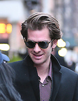 www.acepixs.com<br /> <br /> January 10 2017, New York City<br /> <br /> Actor Andrew Garfield greets a fan as he leaves a downtown hotel on January 10 2017 in New York City<br /> <br /> By Line: Curtis Means/ACE Pictures<br /> <br /> <br /> ACE Pictures Inc<br /> Tel: 6467670430<br /> Email: info@acepixs.com<br /> www.acepixs.com