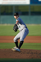 Augusta GreenJackets starting pitcher Blake Rivera (17) in action against the Kannapolis Intimidators at Kannapolis Intimidators Stadium on June 21, 2019 in Kannapolis, North Carolina. The Intimidators defeated the GreenJackets 6-1. (Brian Westerholt/Four Seam Images)