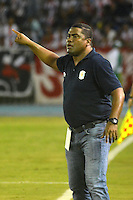 BARRANQUILLA  -COLOMBIA, 28-08-2016. Huberth Bodhert director técnico Jaguares. Acción de juego entre Junior y  Jaguares de Córdoba    durante encuentro  por la fecha 10 de la Liga Aguila II 2016 disputado en el estadio Metroplitano Roberto Meléndez ./ Huberth Bodhert  coach of Jaguares.Action game between Junior and Jaguares   during match for the date 10 of the Aguila League II 2016 played at Metroplitano Roberto Melendez stadium . Photo:VizzorImage / Alfonso Cervantes  / Contribuidor