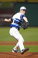 Seton Hall Pirates relief pitcher Greg Terhune #35 delivers a pitch during a game against the Ohio State Buckeyes at the Big Ten/Big East Challenge at Florida Auto Exchange Stadium on February 18, 2012 in Dunedin, Florida.  (Mike Janes/Four Seam Images)