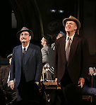 """Danny Mastrogiorgio and Christopher McDonald<br />  during the Broadway Opening Night performance curtain call bows for """"The Front Page""""  at the Broadhurst Theatre on October 20, 2016 in New York City."""