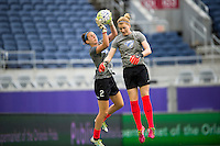 Orlando, FL - Sunday July 10, 2016: Jami Kranich prior to a regular season National Women's Soccer League (NWSL) match between the Orlando Pride and the Boston Breakers at Camping World Stadium.