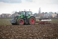 Ploughing land following sugar beet <br /> &copy;Tim Scrivener Photographer 07850 303986<br />      ....Covering Agriculture In The UK....
