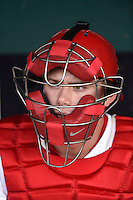 ***Temporary Unedited Reference File***Springfield Cardinals catcher Carson Kelly (5) during a game against the Northwest Arkansas Naturals on April 26, 2016 at Hammons Field in Springfield, Missouri.  Northwest Arkansas defeated Springfield 5-2.  (Mike Janes/Four Seam Images)