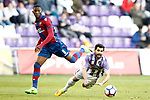 Real Valladolid's Alex Lopez (r) and Levante UD's Jefferson Lerma during La Liga Second Division match. March 11,2017. (ALTERPHOTOS/Acero)