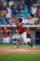 Mahoning Valley Scrappers right fielder Clark Scolamiero (11) follows through on a swing during a game against the Williamsport Crosscutters on August 28, 2018 at BB&T Ballpark in Williamsport, Pennsylvania.  Williamsport defeated Mahoning Valley 8-0.  (Mike Janes/Four Seam Images)