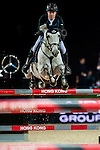 Michael Whitaker of Valentin R competes at the Longines Speed Challenge during the Longines Hong Kong Masters 2015 at the AsiaWorld Expo on 13 February 2015 in Hong Kong, China. Photo by Juan Flor / Power Sport Images