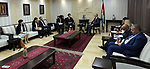 Palestinian Prime minister Rami Hamadallah meets with Member of the Japanese House of Representatives Isawa Ishiroa, in the West Bank city of Ramallah,on July 20, 2017. Photo by Prime Minister Office