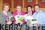 CHRONICLE: Proof reading the Kilflynn Chronicle12st edition before it goes to print before the Christmas rush on Monday evening in Parkers Bar, Kilflynn, L-r: Margaret Savage, Mike Parker, Eileen Rohan and John O'Flaherty.  .................... ..........