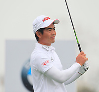 Liang Wen-chong (CHN) tees off the 2nd tee during Thursday's Round 1 of the 2014 BMW Masters held at Lake Malaren, Shanghai, China 30th October 2014.<br /> Picture: Eoin Clarke www.golffile.ie