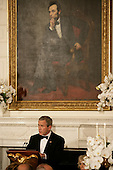 Washington, D.C. - November 2, 2005 -- United States President George W. Bush offers a toast to Charles, Prince of Wales, and  Camilla, Duchess of Cornwall, of Great Britain, during a social dinner at the White House in Washington, D.C. on November 2, 2005. Britain's Prince Charles and the Duchess are on an eight-day visit to the United States and were honored at a rare black tie dinner in the State Dining Room of the White House..Credit: Jay L. Clendenin - Pool via CNP.(Restriction: No New York Metro or other Newspapers within a 75 mile radius of New York City)