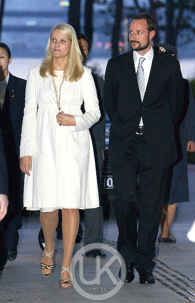 Crown Prince Haakon & Crown Princess Mette Marit of Norway attend a Buffet Dinner at Apec House in Busan on the third day of their four day visit to South Korea..