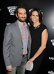 HOLLYWOOD, CA- SEPTEMBER 10: Director Jay Duplass (L) and actress Amy Landecker attend 'The Skeleton Twins' Los Angeles premiere held at the ArcLight Hollywood on September 10, 2014 in Hollywood, California.