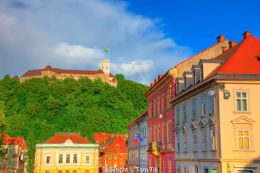 Ljubljana Castle, Ljubljana, Slovenia, Captiol of Slovenia, Middle Ages Castle built in 12th Century,  Above Town Square in Slovenia's most populous city