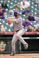 TCU Horned Frog 1B Matt Curry against the Texas Tech Red Raiders on Friday March 5th, 2100 at the Astros College Classic in Houston's Minute Maid Park.  (Photo by Andrew Woolley / Four Seam Images)