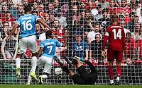 Raheem Sterling of Manchester City opens the scoring during the FA Community Shield match between Liverpool and Manchester City at Wembley Stadium on August 4th 2019 in London, England. (Photo by John Rainford/phcimages.com)<br /> Foto PHC/Insidefoto <br /> ITALY ONLY