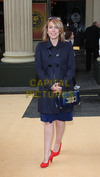 FAY RIPLEY.10th Anniversary Performance of 'The Lion King' at the Lyceum Theatre, London, England..October 18th 2009.full length red shoes blue navy coat handbag purse faye.CAP/ROS.©Steve Ross/Capital Pictures.