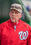 27 May 2013: Washington Nationals Manager Davey Johnson walks the dugout prior to facing the Baltimore Orioles at Nationals Park in Washington, DC. The Orioles defeated the Nationals 6-2, taking the Memorial Day, first game of their interleague series. Mandatory Credit: Ed Wolfstein Photo *** RAW (NEF) Image File Available ***