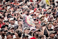 14 September 2008--Fans watch the action during the Sylvania 300 at New Hampshire Motor Speedway in Loudon, NH.  (Brian Cleary/BCPix.com)