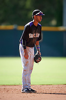 Colorado Rockies Carlos Herrera (2) during an instructional league game against the San Francisco Giants on October 7, 2015 at the Giants Baseball Complex in Scottsdale, Arizona.  (Mike Janes/Four Seam Images)