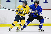 Brett Gensler (Bentley - 26), Ben Reinhardt (UAH - 28) - The Bentley University Falcons defeated the visiting University of Alabama-Huntsville Chargers 9-1 on Friday, October 26, 2012, at the John A. Ryan Skating Center in Watertown, Massachusetts.