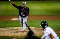 Jaime Lugo pitcher abridor de los mayos, durante el juego de beisbol de la Liga Mexicana del Pacifico temporada 2017 2018. Cuarto juego de la serie de playoffs entre Mayos de Navojoa vs Naranjeros. 05Enero2018. (Foto: Luis Gutierrez /NortePhoto.com)