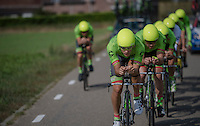 Team Cannondale-Drapac during the TTT recon<br /> <br /> 12th Eneco Tour 2016 (UCI World Tour)<br /> stage 5 (TTT) Sittard-Sittard (20.9km) / The Netherlands