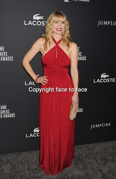 BEVERLY HILLS, CA- FEBRUARY 22: Actress Meredith Monroe arrives at the 16th Costume Designers Guild Awards at The Beverly Hilton Hotel on February 22, 2014 in Beverly Hills, California.<br />