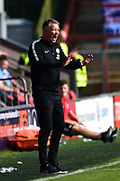 Peterborough United manager Darren Ferguson reacts<br /> <br /> Photographer Richard Martin-Roberts/CameraSport<br /> <br /> The EFL Sky Bet League One - Fleetwood Town v Peterborough United - Friday 19th April 2019 - Highbury Stadium - Fleetwood<br /> <br /> World Copyright © 2019 CameraSport. All rights reserved. 43 Linden Ave. Countesthorpe. Leicester. England. LE8 5PG - Tel: +44 (0) 116 277 4147 - admin@camerasport.com - www.camerasport.com