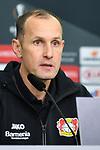 08.11.2018, BayArena, Leverkusen, Europaleque, Vorrunde, GER, UEFA EL, Bayer 04 Leverkusen (GER) vs. FC Zuerich (SUI),<br />  <br /> DFL regulations prohibit any use of photographs as image sequences and/or quasi-video<br /> <br /> im Bild / picture shows: <br /> Pressekonferenz (PK) nach dem Spiel,  Heiko Herrlich Trainer (Bayer Leverkusen),<br /> <br /> Foto &copy; nordphoto / Meuter<br /> <br /> <br /> <br /> Foto &copy; nordphoto / Meuter