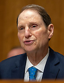 United States Senator Ron Wyden (Democrat of Oregon), Ranking Member, US Senate Committee on Finance, makes opening remarks prior to hearing testimony from Charles P. Rettig on his nomination to be Commissioner Of Internal Revenue (IRS) on Capitol Hill in Washington, DC on Thursday, June 28, 2018. <br /> Credit: Ron Sachs / CNP