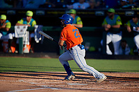 St. Lucie Mets Carlos Cortes (23) bats during a Florida State League game against the Bradenton Barbanegras on July 27, 2019 at LECOM Park in Bradenton, Florida.  Bradenton defeated St. Lucie 3-2.  (Mike Janes/Four Seam Images)