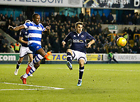 Nedum Onuoha of Queens Park Rangers and Lee Gregory of Millwall seen during the Sky Bet Championship match between Millwall and Queens Park Rangers at The Den, London, England on 29 December 2017. Photo by Carlton Myrie / PRiME Media Images.