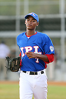 Rudimil Visioso participates in the International Prospect League Showcase at the New York Yankees academy in Boca Chica, Dominican Republic on January 24, 2014 (Bill Mitchell)