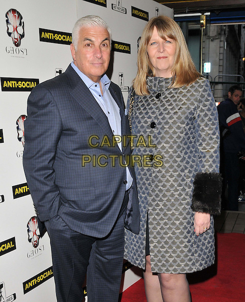 LONDON, ENGLAND - APRIL 28: Mitch Winehouse &amp; Jane Whitehouse attend the &quot;Anti-Social&quot; UK film premiere, Cineworld Haymarket, Haymarket, on Tuesday April 28, 2015 in London, England, UK. <br /> CAP/CAN<br /> &copy;Can Nguyen/Capital Pictures