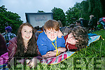 Aoife O Mahony, Jordan Tearle and Gerard Tansley enjoying the Open Air Screening of Tom Hanks's film  'Big' in Pearse Park on Friday