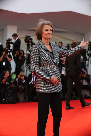 Charlotte Rampling arrives the Award Ceremony of the 74th Venice Film Festival at Sala Grande on September 9, 2017 in Venice, Italy.<br /> CAP/GOL<br /> &copy;GOL/Capital Pictures /MediaPunch ***NORTH AND SOUTH AMERICAS ONLY***