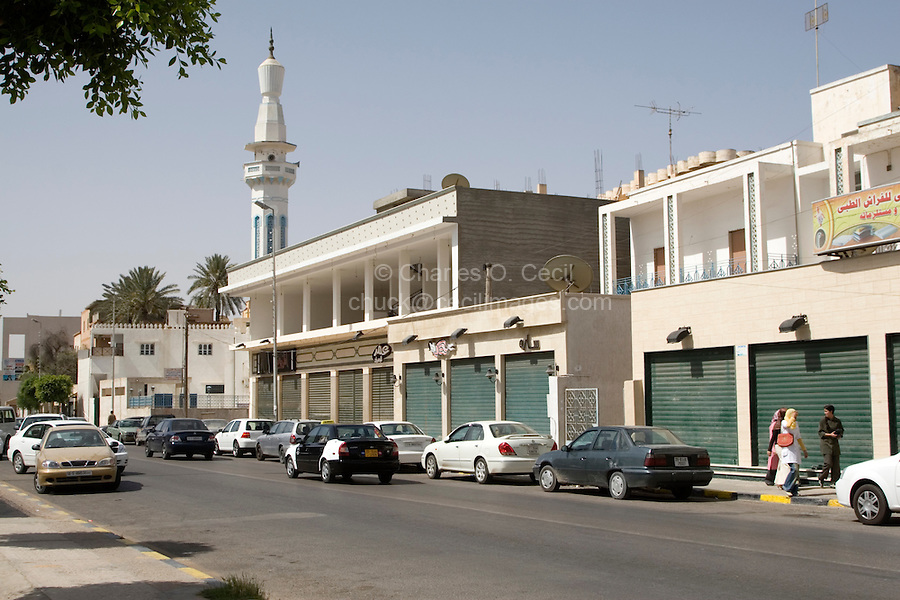 Tripoli, Libya - Morning Street Scene, Store Fronts prior to Opening for Business