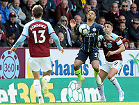 Manchester City's Gabriel Jesus controls under pressure from  Burnley's Matthew Lowton<br /> <br /> Photographer Rich Linley/CameraSport<br /> <br /> The Premier League - Burnley v Manchester City - Sunday 28th April 2019 - Turf Moor - Burnley<br /> <br /> World Copyright © 2019 CameraSport. All rights reserved. 43 Linden Ave. Countesthorpe. Leicester. England. LE8 5PG - Tel: +44 (0) 116 277 4147 - admin@camerasport.com - www.camerasport.com