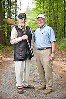 Writer Jim CArmichael and shooting club owner Bill Kempffer.